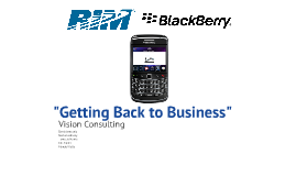 UH Marketing 6361 - BlackBerry