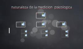 naturaleza de la medicion psicologica