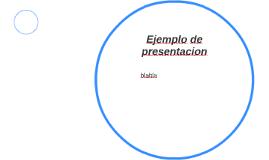 Ejemplo de presentacion