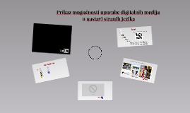 Prikaz mogućnosti uporabe digitalnih medija u nastavi strani