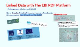 SIB Training on EBI RDF Platform 1/12/2015