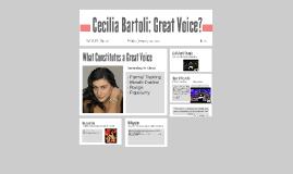 Cecilia Bartoli: Great Voice?