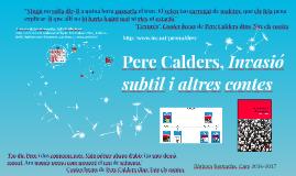 Pere Calders, Invasió subtil i altres contes