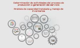 Determinación de actividades del proceso de producción o gen