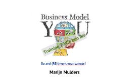 Business Model You Workshop 2 Wie ben ik?