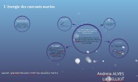 L'énergie des courants marins