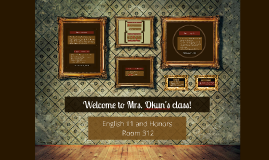 Welcome Parents to English 11!