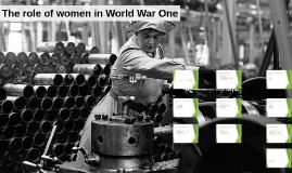 Role of women in WW1