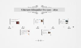 Litteratur fra 1500 - 1850