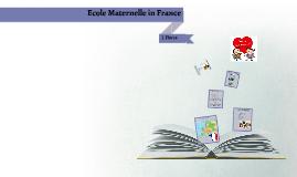 Kindergarten in France