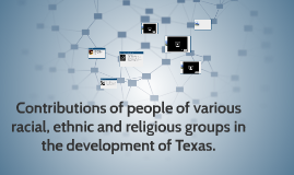 Contributions of people of various racial, ethnic and religi
