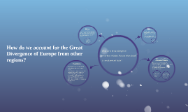 "How do we account for the ""Great Divergence of Europe?"""