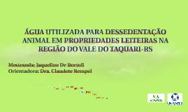 ÁGUA UTILIZADA PARA DESSEDENTAÇÃO ANIMAL EM PROPRIEDADES LEI