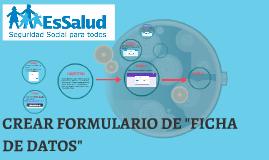 "FORMULARIO ""FICHA DE DATOS"""