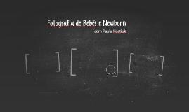 Fotografia de Bebês e Newborn