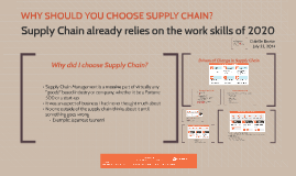 Supply Chain relies on the work skills of 2020