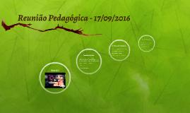 Reunião Pedagógica - 17/09/2016