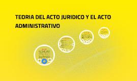 Clase 3 TEORIA DEL ACTO JURIDICO Y EL ACTO ADMINISTRATIVO
