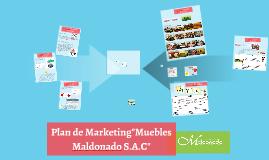 "Copy of Plan de Marketing""Muebles Maldonado S.A.C"""