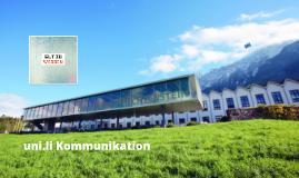 Universität Liechtenstein - Gut zu wissen - Kommunikation