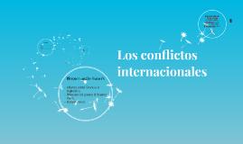Los conflictos internacionales
