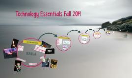 Technology Essentials Fall 2014