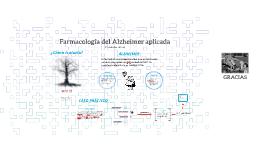 Farmacología del Alzheimer aplicada