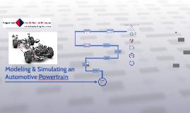 MODELLING & SIMULATING AN AUTOMOTIVE POWERTRAIN