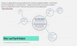 China: Payroll Analysis