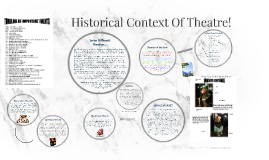 Copy of Copy of Historical Context Of Theatre