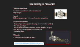 Parts d'un rellotge mecànic: