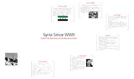 Syria Since WWII
