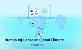 Human Influence on Global Climate