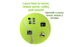 Learn how to serve, return serve, volley and smash