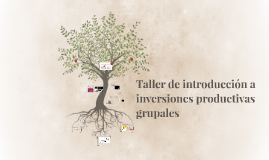 Taller de introducción a inversiones productivas grupales