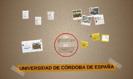 UNIVERSIDAD DE CORDOVA DE ESPAÑA