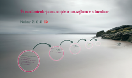 Pocedimiento para emplear un Software Educativo
