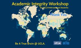 Academic Integrity Workshop 2018