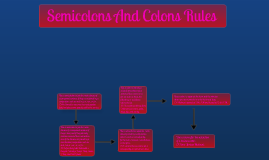 Semicolons And Colons Rules
