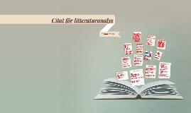 Citat för litteraturanalys
