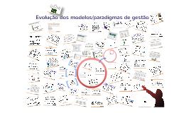 Evolução dos modelos/paradigmas de gestão:A nova gestão pública e gestão pública empreendedora.