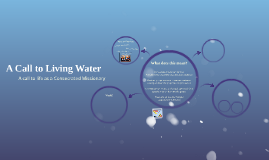 A Call to Living Water