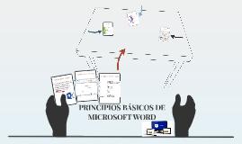 PRINCIPIOS BASICOS DE MICROSOFT WORD