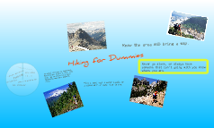 Copy of Long Hiking Trips