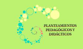 PLANTEAMIENTOS PEDAGÓGICOS Y DIDÁCTICOS