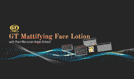 GT Mattifying Face Lotion