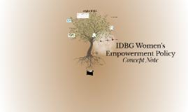 IDB Women's Empowerment Policy