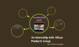 An Internship with Allstar Products Group