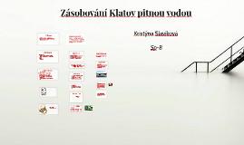 Zásobování Klatov pitnou vodou