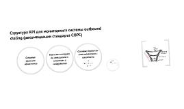 Структура KPI для мониторинга системы outbound dialing (рекомендации стандарта COPC)